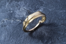 Feather Ring(L) K18